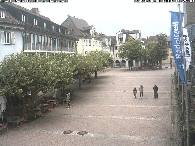 Webcam der Stadt Radolfzell mit Blick auf den Marktplatz